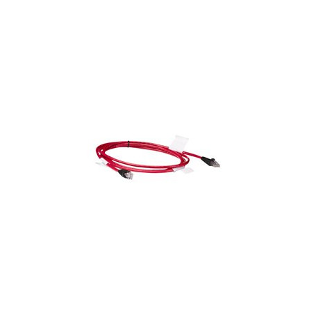 Cable HP Red CAT 5 Pack 8, 1.8M