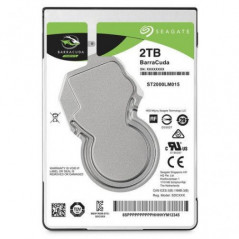 "Disco Duro 2TB para Notebook 2.5""  Seagate BarraCuda  5400rpm  SATA 6Gb/s  Cache 128MB"