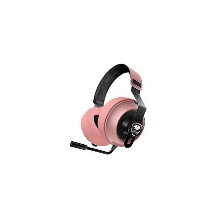 Audifono Gamer Cougar Phontum Essential Pink  Microfono Noise-Canceling