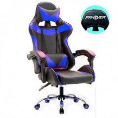 Silla Panther Gamer Reclinable Black Blue